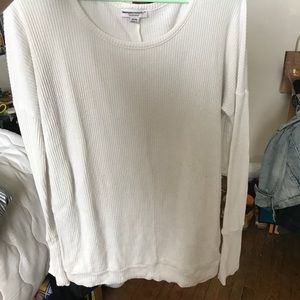 White maternity sweater